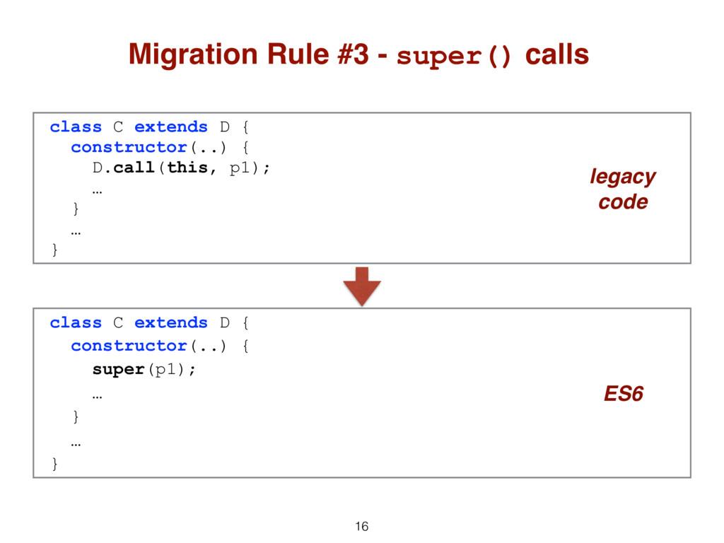 16 Migration Rule #3 - super() calls class C ex...