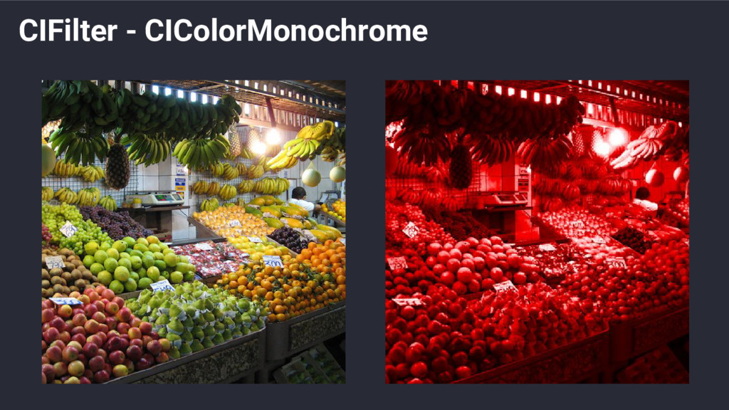 CIFilter - CIColorMonochrome