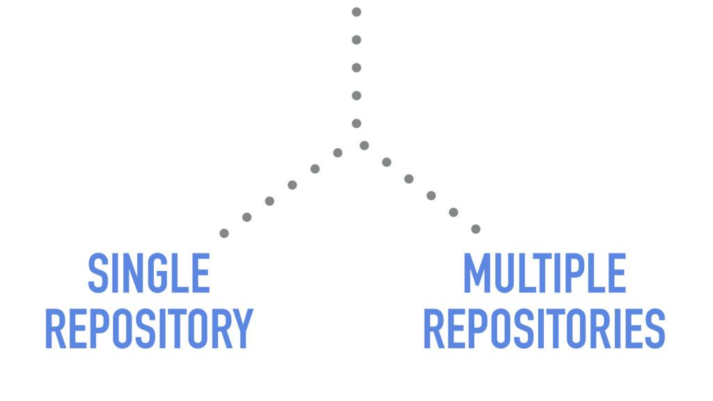 SINGLE REPOSITORY MULTIPLE REPOSITORIES