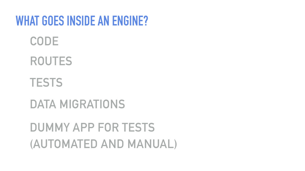 WHAT GOES INSIDE AN ENGINE? CODE TESTS DUMMY AP...