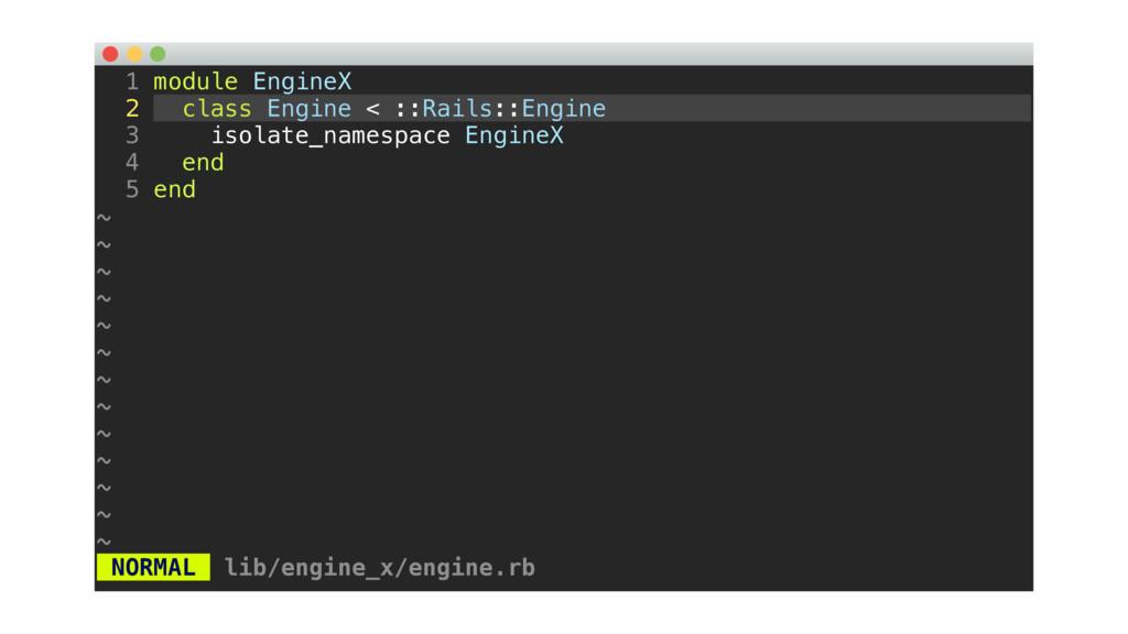 1 module EngineX 2 class Engine < ::Rails::Engi...
