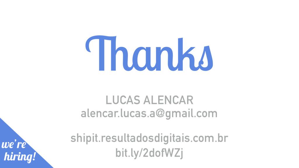 Thanks LUCAS ALENCAR we're hiring! bit.ly/2dofW...