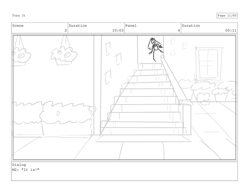 Scene 2 Duration 10:03 Panel 4 Duration 00:11 D...