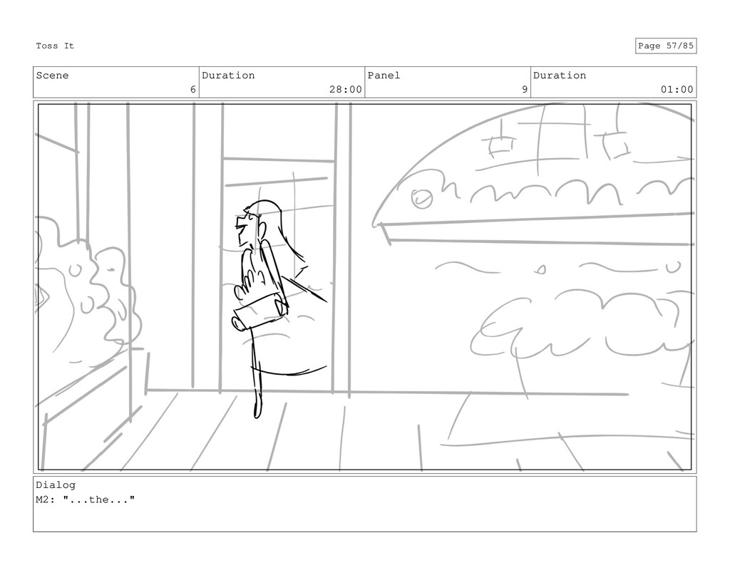 Scene 6 Duration 28:00 Panel 9 Duration 01:00 D...