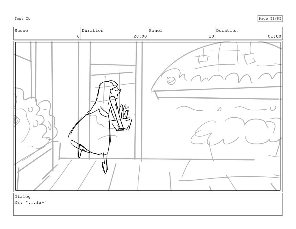 Scene 6 Duration 28:00 Panel 10 Duration 01:00 ...