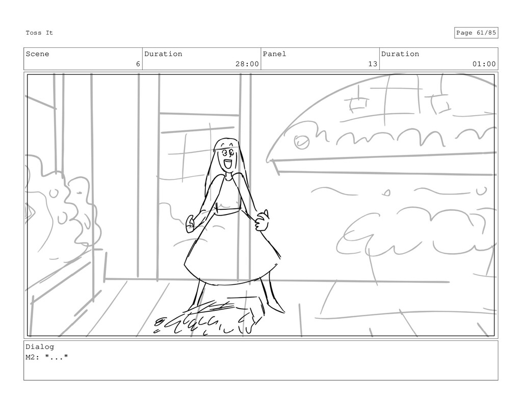 Scene 6 Duration 28:00 Panel 13 Duration 01:00 ...