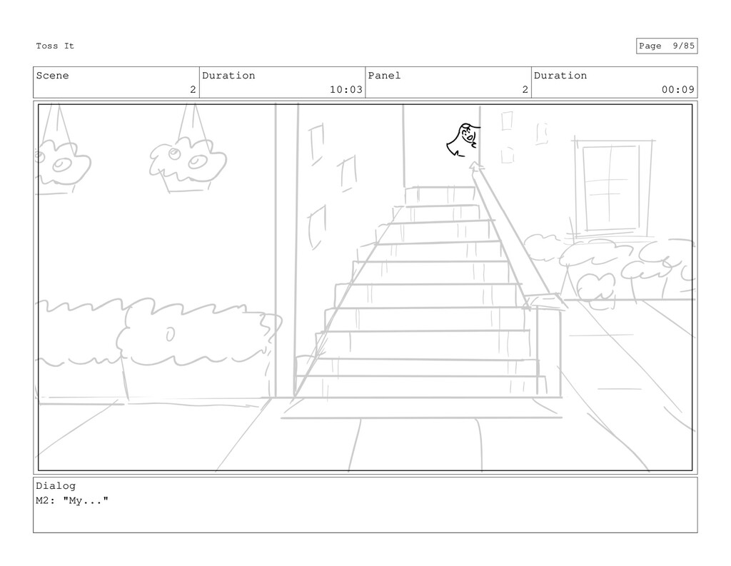 Scene 2 Duration 10:03 Panel 2 Duration 00:09 D...