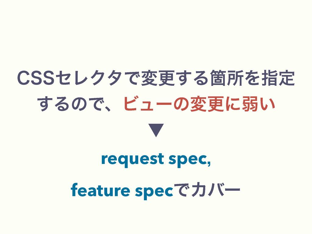 $44ηϨΫλͰมߋ͢ΔՕॴΛࢦఆ ͢ΔͷͰɺϏϡʔͷมߋʹऑ͍ ˝ request s...