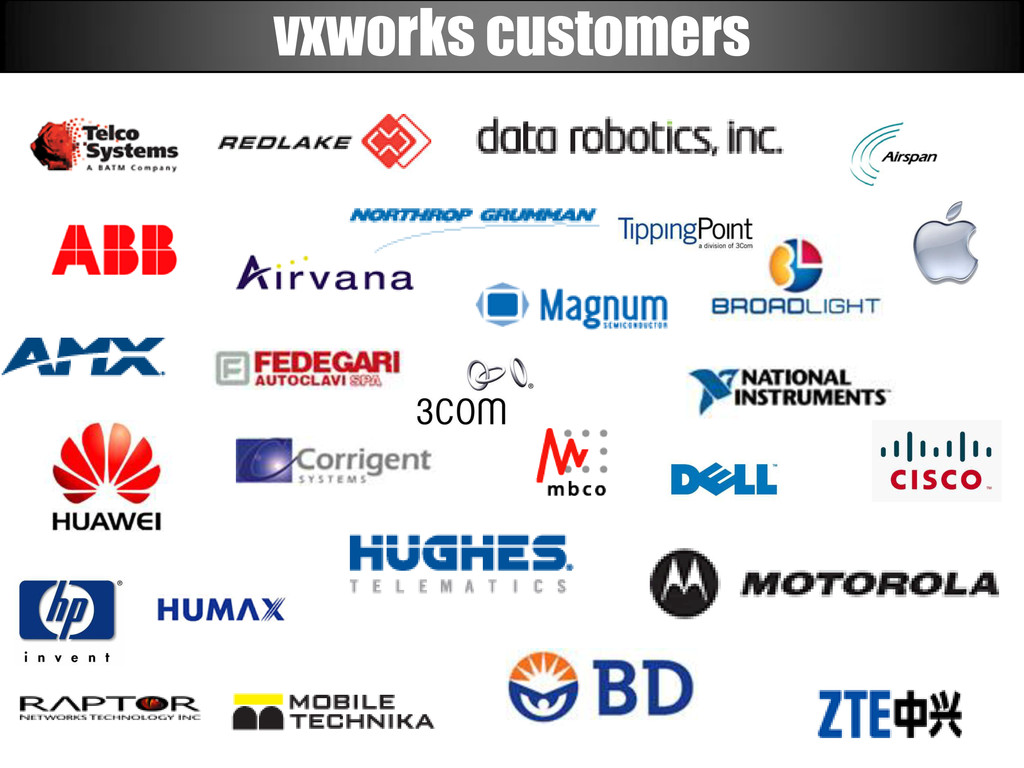 vxworks customers