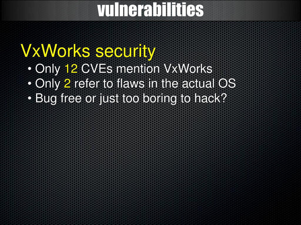 vulnerabilities VxWorks security • Only 12 CVEs...