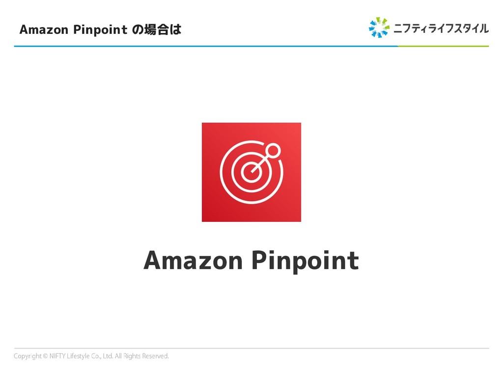 Amazon Pinpoint の場合は Amazon Pinpoint