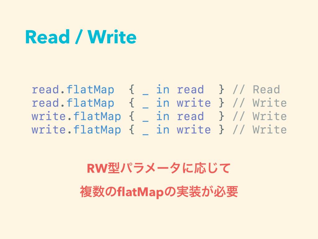 Read / Write RWܕύϥϝʔλʹԠͯ͡ ෳͷflatMapͷ࣮͕ඞཁ
