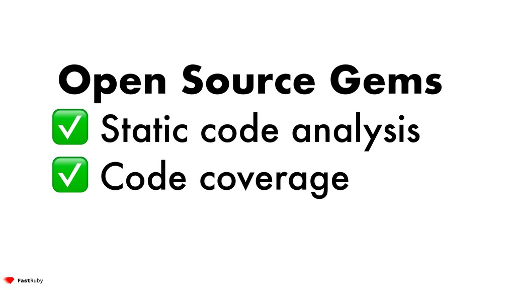 Open Source Gems ✅ Static code analysis ✅ Code ...
