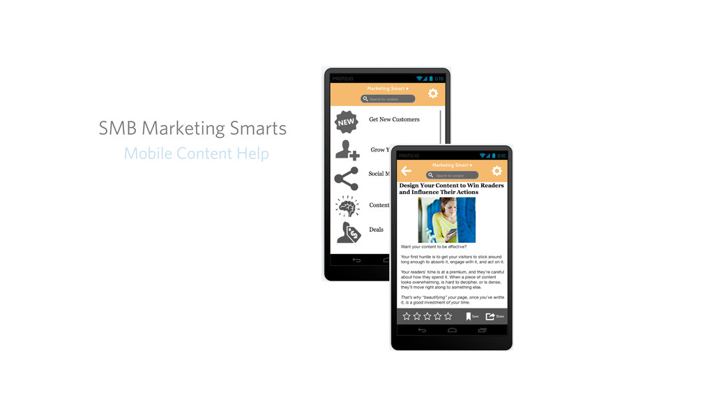 SMB Marketing Smarts Mobile Content Help