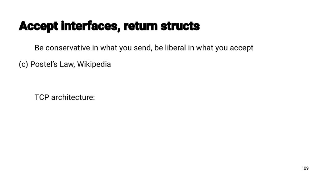 Be conservative in what you send, be liberal in...