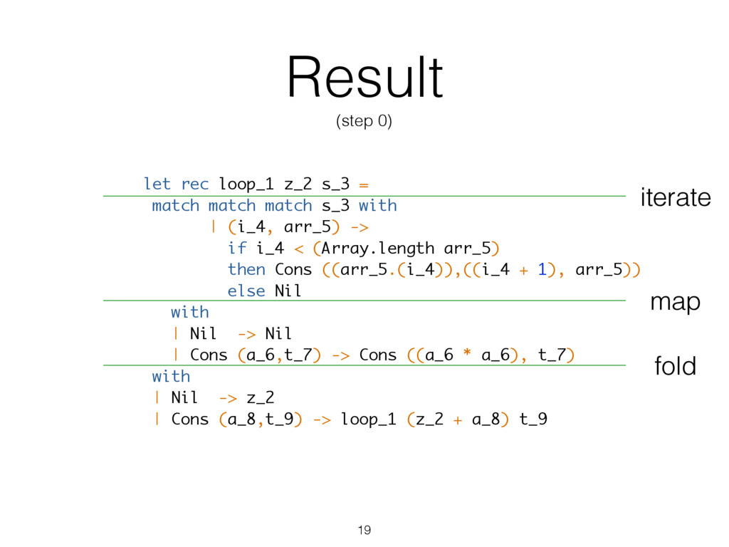 Result (step 0) let rec loop_1 z_2 s_3 = match ...