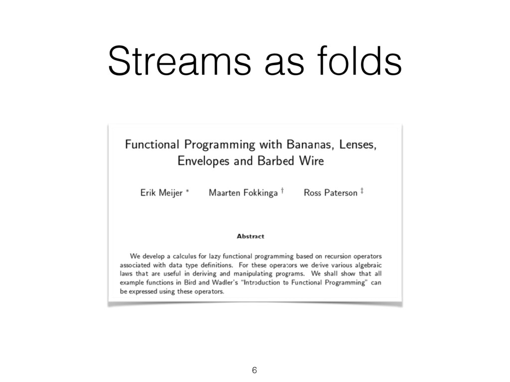 Streams as folds 6