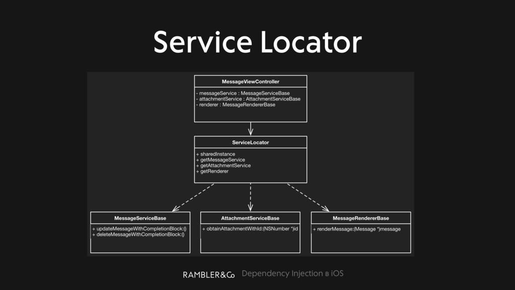 Dependency Injection в iOS Service Locator