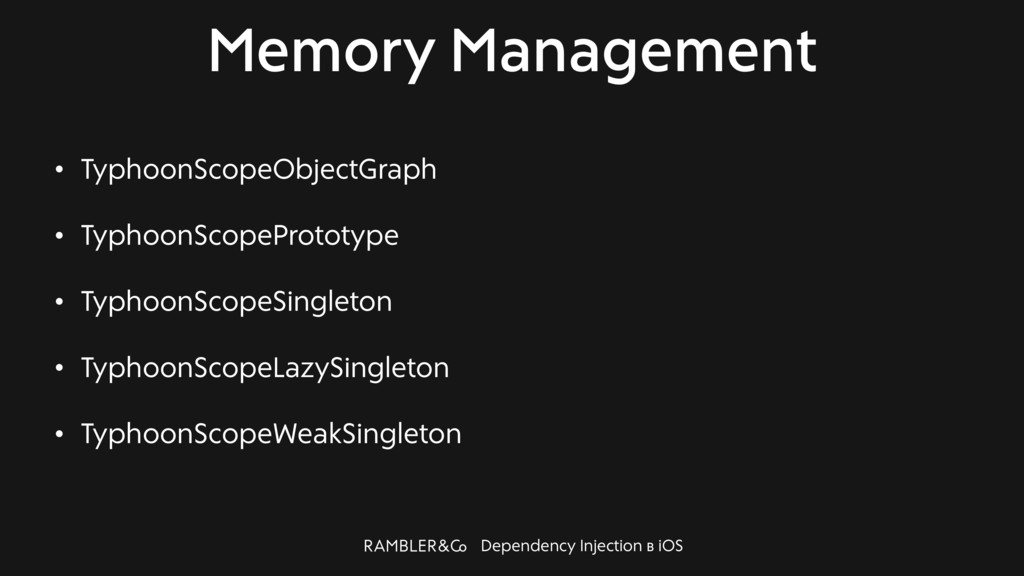 Dependency Injection в iOS Memory Management • ...