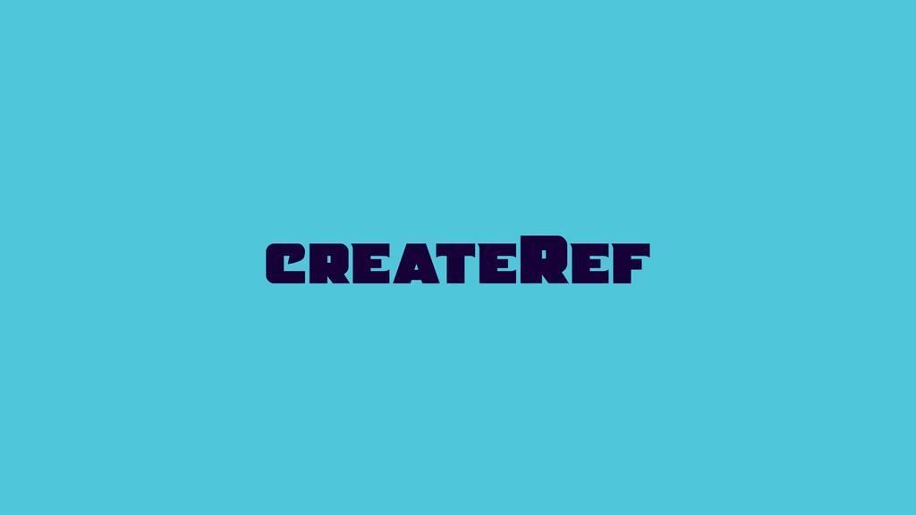 createRef