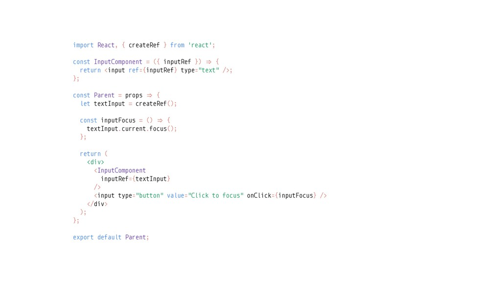 import React, { createRef } from 'react'; const...