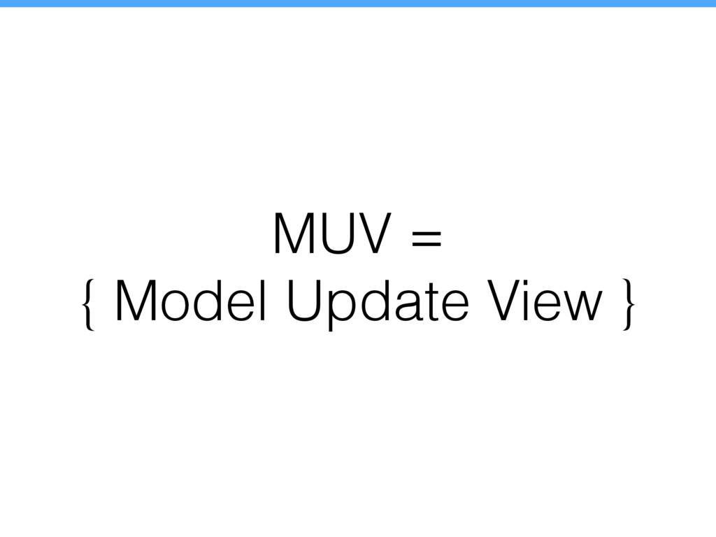 MUV = { Model Update View }