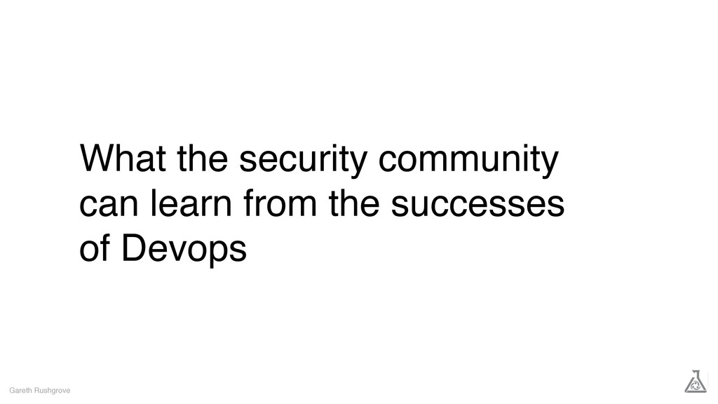 What the security community can learn from the ...