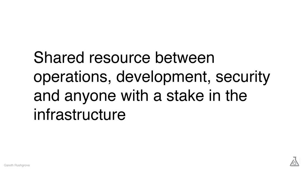Shared resource between operations, development...