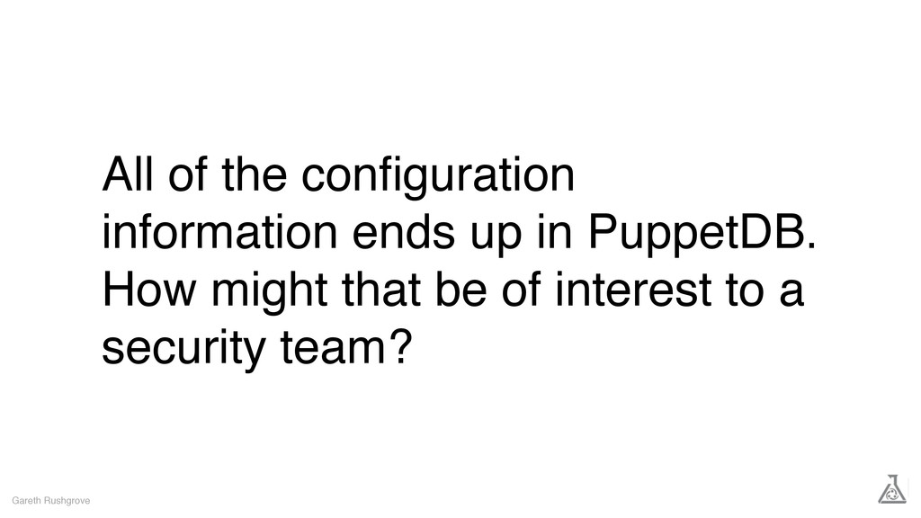 All of the configuration information ends up in ...