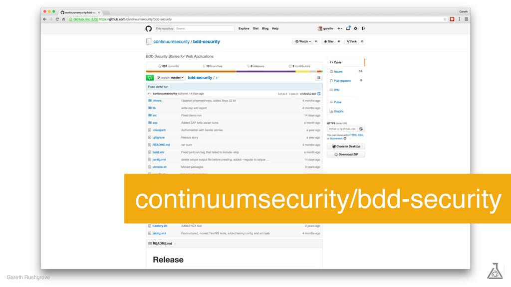 Gareth Rushgrove continuumsecurity/bdd-security