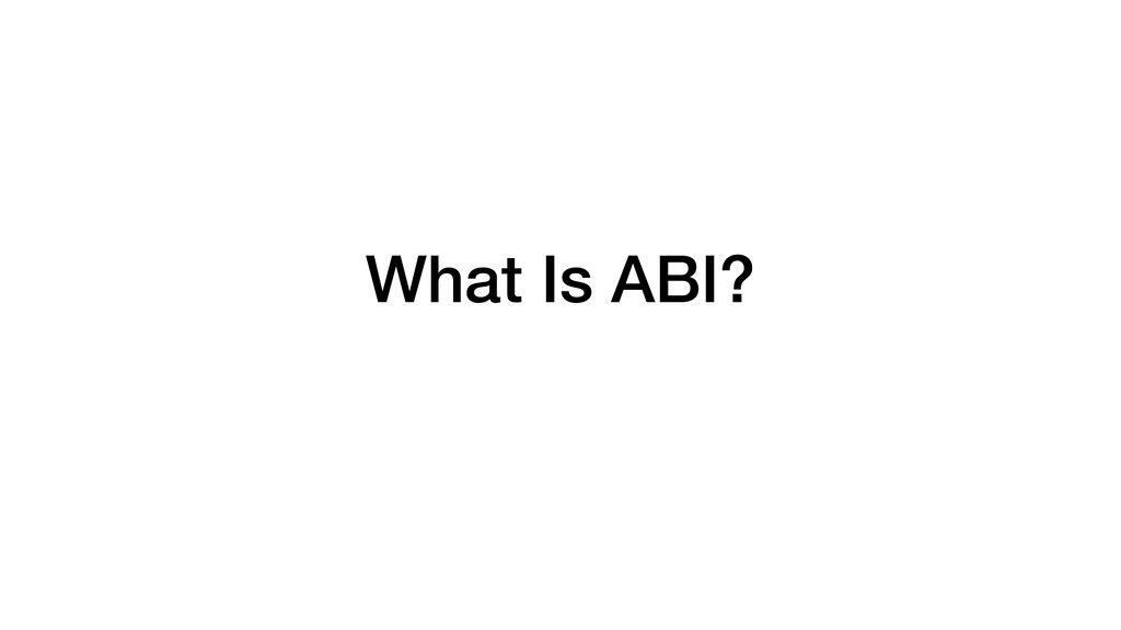 What Is ABI?