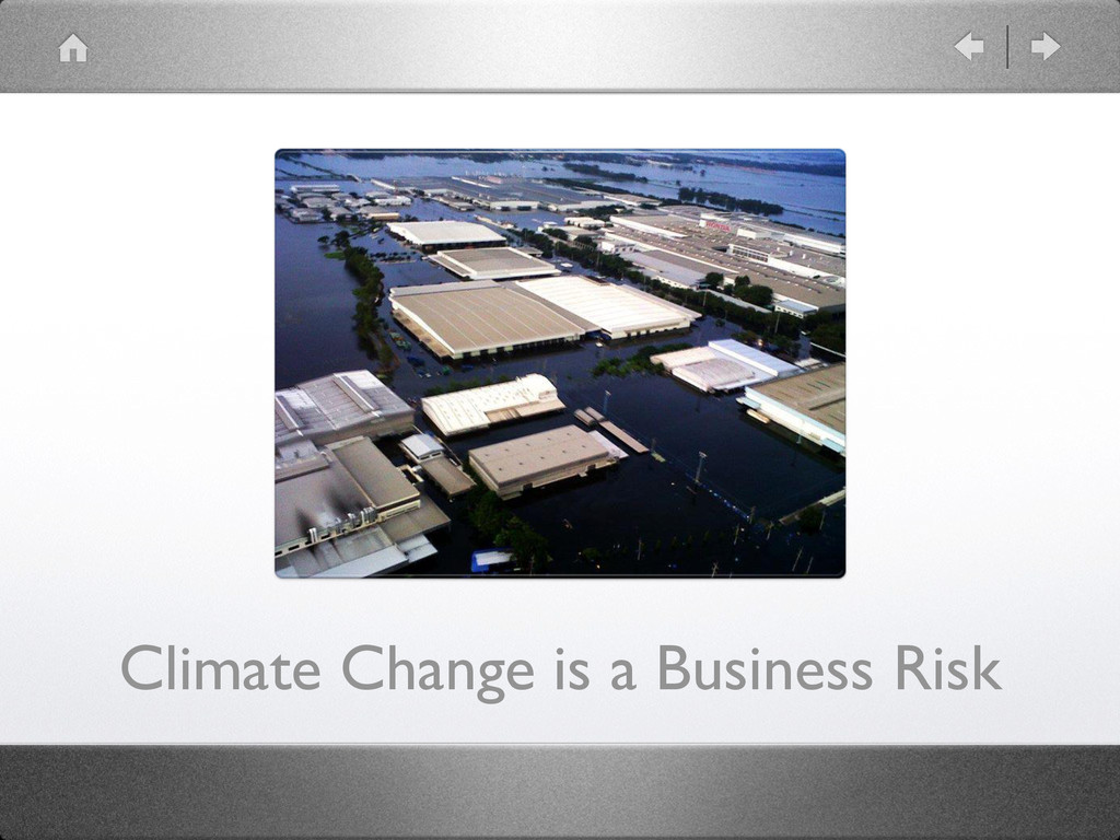 Climate Change is a Business Risk