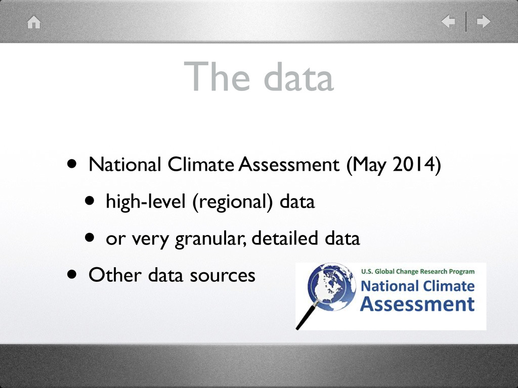 The data • National Climate Assessment (May 201...