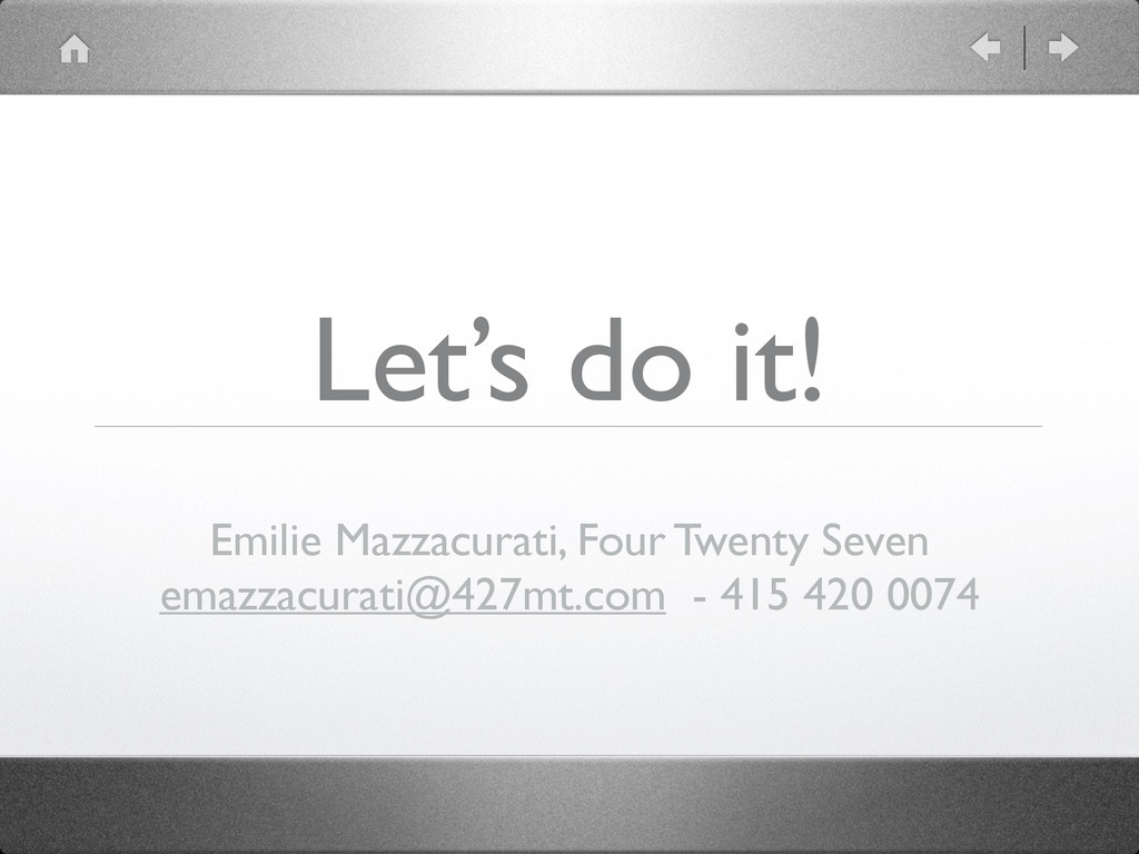 Let's do it! Emilie Mazzacurati, Four Twenty Se...