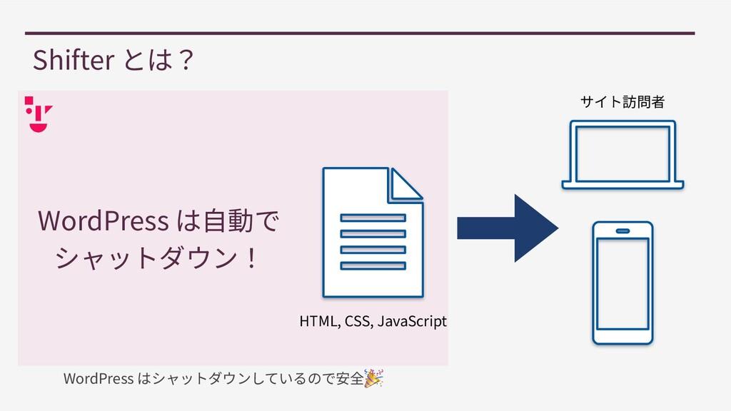 Shifter とは? HTML, CSS, JavaScript サイト訪問者 WordPr...