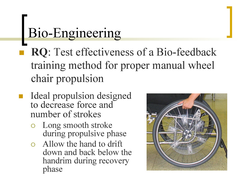 Bio-Engineering n  RQ: Test effectiveness of a...