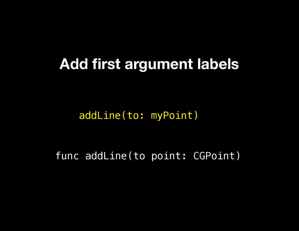 addLine(to: myPoint) func addLine(to point: CGP...