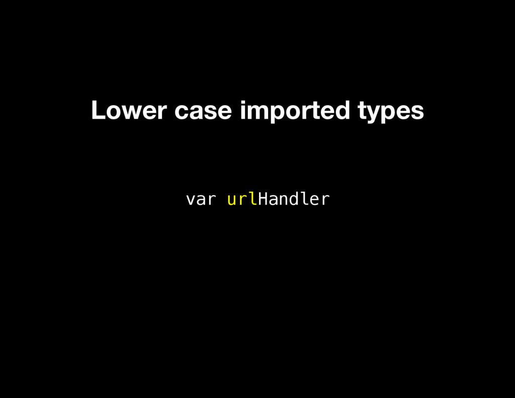 var urlHandler Lower case imported types
