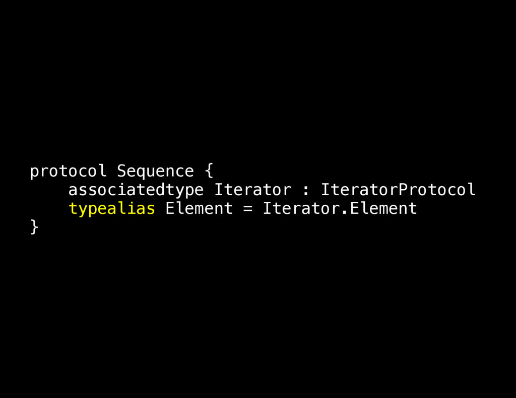 protocol Sequence { associatedtype Iterator : I...