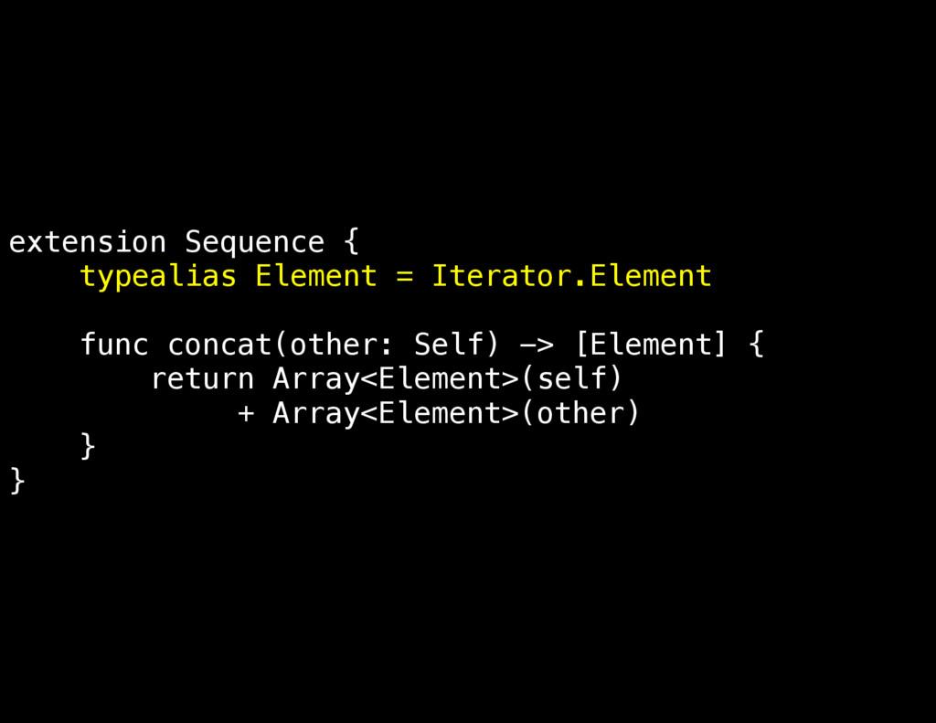 extension Sequence { typealias Element = Iterat...