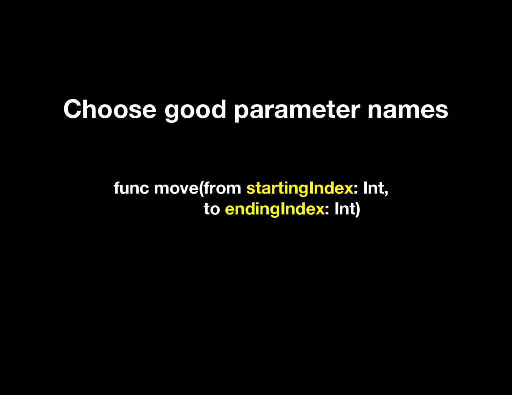 func move(from startingIndex: Int, to endingInd...