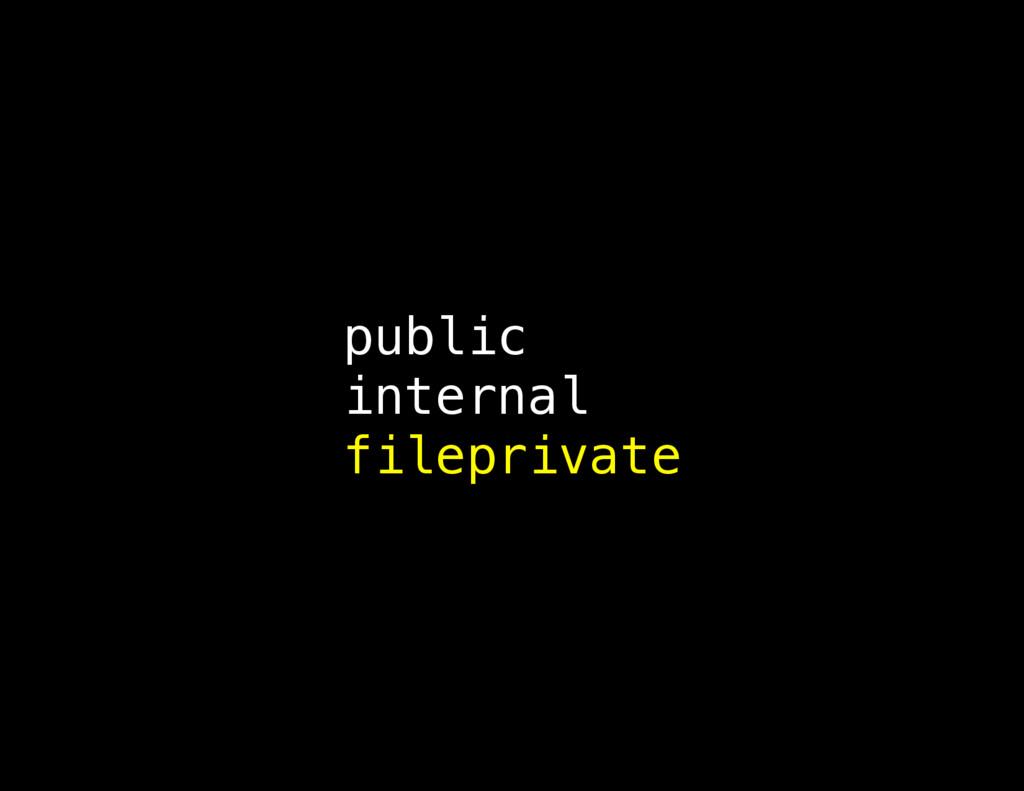 public internal fileprivate