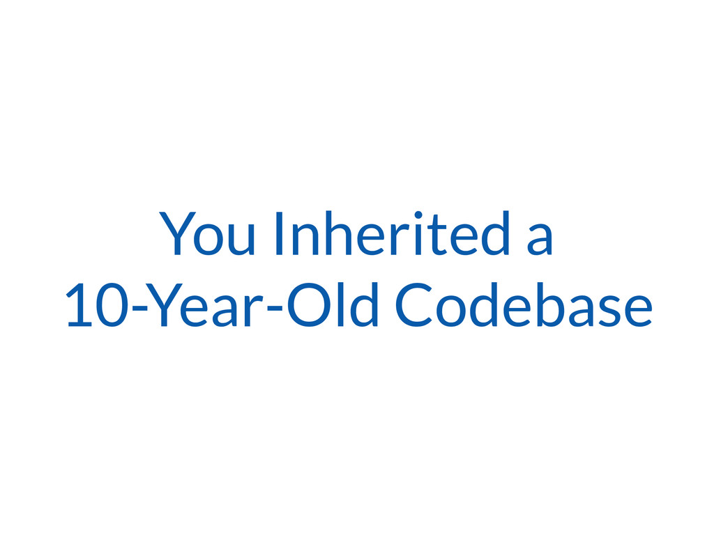 You Inherited a