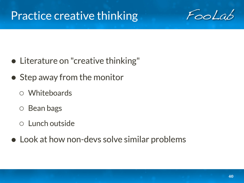 "Practice creative thinking • Literature on ""cre..."