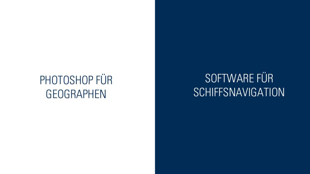 PHOTOSHOP FÜR GEOGRAPHEN SOFTWARE FÜR SCHIFFSNA...
