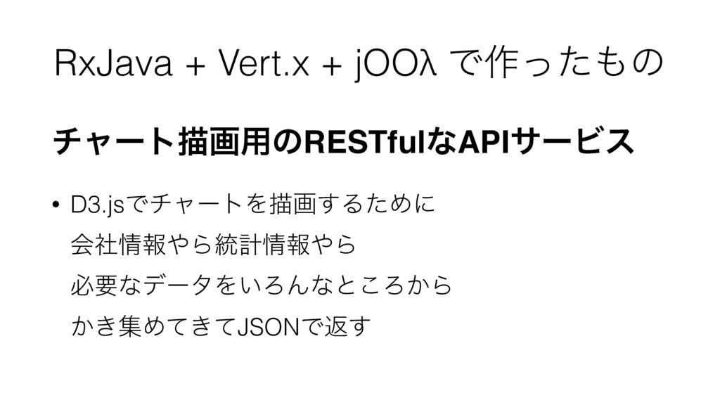 RxJava + Vert.x + jOOλ Ͱ࡞ͬͨͷ νϟʔτඳը༻ͷRESTfulͳA...