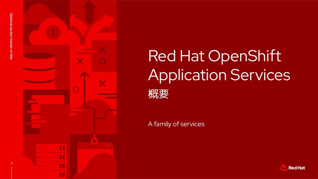 Red Hat OpenShift Application Services 概要 A fam...