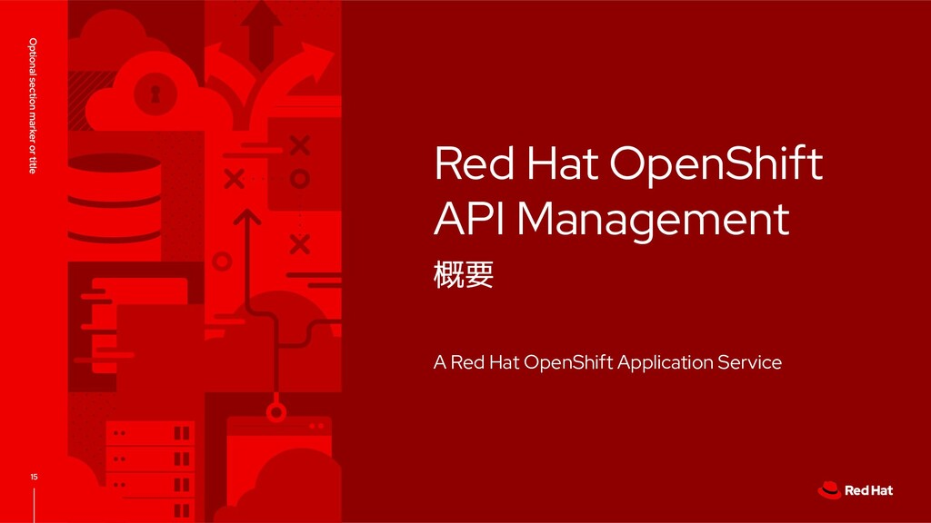 Red Hat OpenShift API Management 概要 A Red Hat O...