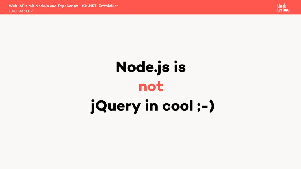 Web-APIs mit Node.js und TypeScript - für .NET-...