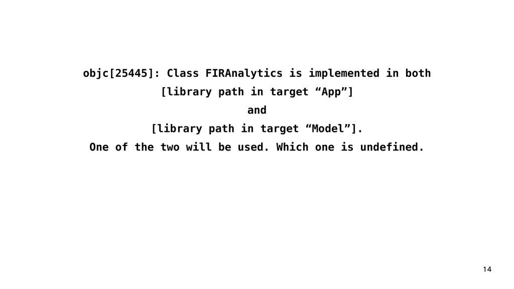 objc[25445]: Class FIRAnalytics is implement...